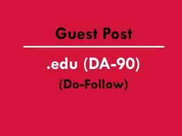 Publish Guest post article on edu/education site DA 90