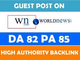 """Publish Guest Post on """"WN"""" DA-90"""