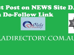 Guest Post - Olaladirectory.com.au DA 48 News Site DoFollow Link