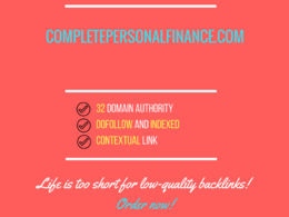 Add a guest post on completepersonalfinance.com, DA 32