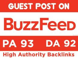 Write & Publish Guest Post on Buzzfeed - Buzzfeed.com DA93