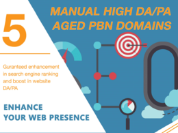 Get 5 Manual HIGH TF CF DA 40+ Homepage PBN Backlinks