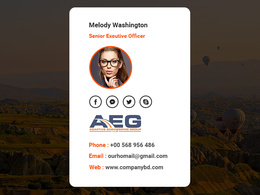 Design & coding HTML Email signature with logo & social icon