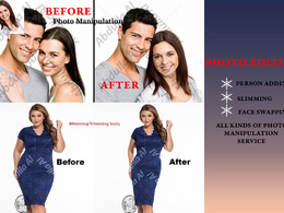 Do Photo Manipulation, Photo Montage, Photoshop a Person adding