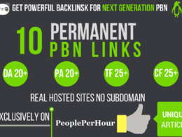 I will do 10 high tf cf DA pa homepage PBN Backlinks permanent