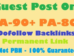 Guest Post in DA90+ and PA80+ With Dofollow Backlink