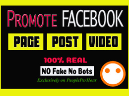 Promote one social media profile to 1000 UK/USA people