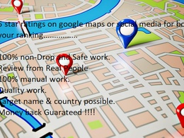 Ratings on Google maps or social media for boost Ratings & Rank
