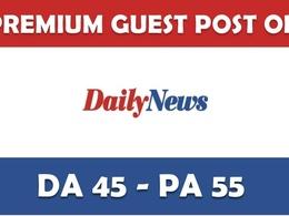 Write guest post at Dailynewsen.com DA 49 & Do follow