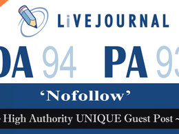 "Write and publish UNIQUE Guest Post on ""LIVEJOURNAL"" DA-94"