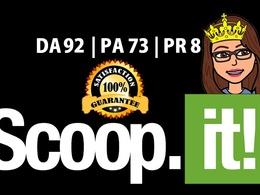 Guest Post on ScoopIt |Scoop-it |Scoop.it  (DA 93 & PA 73)