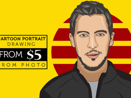 Draw vector cartoon flat avatar portrait in 48 hours