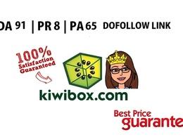 Guest Post in kiwibox.com DA 91 & Dofollow Link