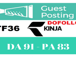 "Write And Publish DOFOLLOW Guest Post on ""kinja"" DA-82"