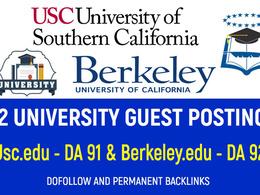 Write and Guest Post on 2 DA91 EDU University Blogs - Dofollow