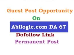 Publish Guest Post On abilogic, Abilogic.com da67 dofollow