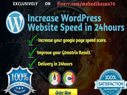 I will speed up wordpress website speed in 24hours