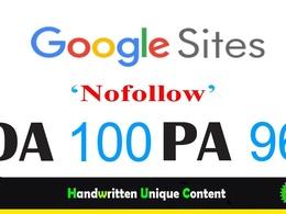Guest Post On Sites.Google |Write And Publish | DA-100, Alexa-1