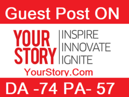 Publish guest post on YourStory.com DA 74