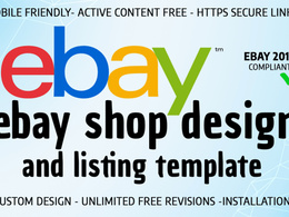 Design advance eBay shop/store & listing template on rule 2017