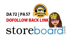 Write a blog on storeboard.com  DA74 - Dofollow backlink