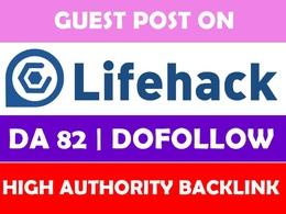 Publish guest post on lifehack.org lifehacker.com lifehack