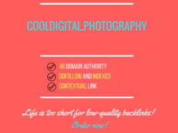 Add a guest post on cooldigital.photography, DA 46