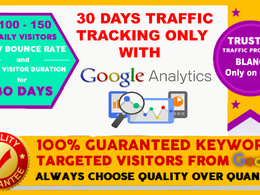 ORGANIC TRAFFIC WITH LOW BOUNCE RATE LONG VISIT DURATION 4 MIN