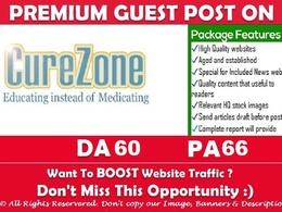 """Publish Health Niche Guest Post on """" Curezone"""" DA 60 DoFollow"""