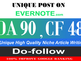 Write And Publish A Guest Post On Evernote DA-93, Alexa-494