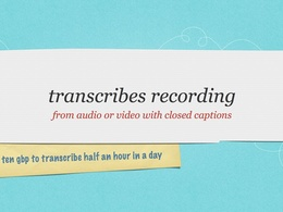 Transcribe & closed caption .SRT subtitle half an hour recording