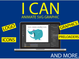 Anmate any svg vector graphic - icons - logos - buttons