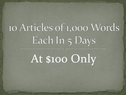 10 articles on any topic