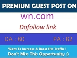 Publish guest post on WN.com – Word News DA 80