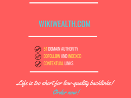 Add a guest post on wikiwealth.com, DA 51
