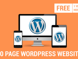 10 Page  WordPress website with 1 year free hosting