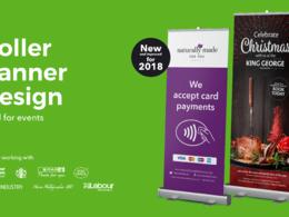 Design a roller banner