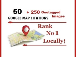 50 Map citations with Geotagged images No1 local SEO rank