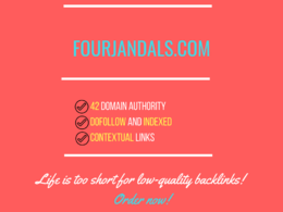 Add a guest post on fourjandals.com, DA 42