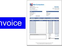Design invoice in Microsoft Excel