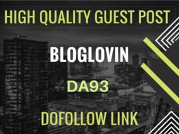 Publish Guest Post on Bloglovin - Bloglovin.com DA 93 - Dofollow