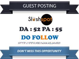 Guest Post on sloshspot - sloshspot.com DA 52 Dofollow Link
