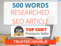 ★ Research & Write SEO article on any subject   500 words ★