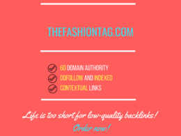 Add a guest post on thefashiontag.com, DA 60