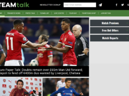 Guest post on Teamtalk.com sports website - DA 68