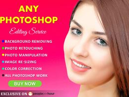 Do Photoshop editing/retouching fast ( 5 images )