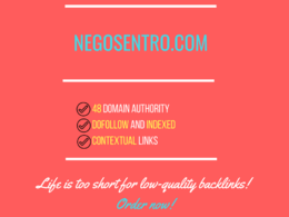 Add a guest post on negosentro.com , DA 48