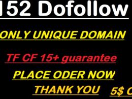 Build A 152 Do-follow unique domain High Quality Blog Comments