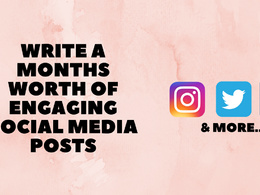 Write a months worth of engaging social media posts