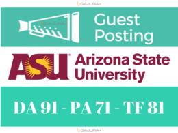 Guest Post on Arizona State University, ASU.edu DA 91